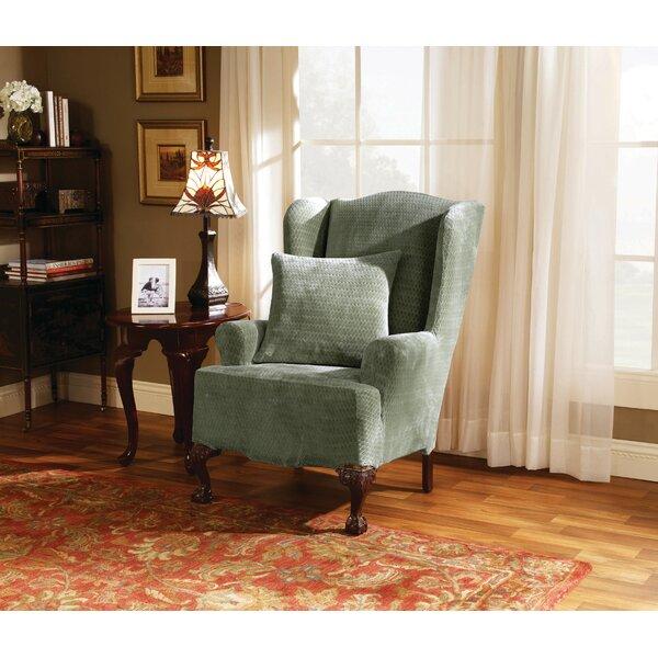 Home & Garden Strech Royal Diamond T-Cushion Wingback Slipcover