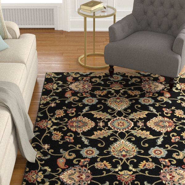Knighten Black/Beige Area Rug by Astoria Grand
