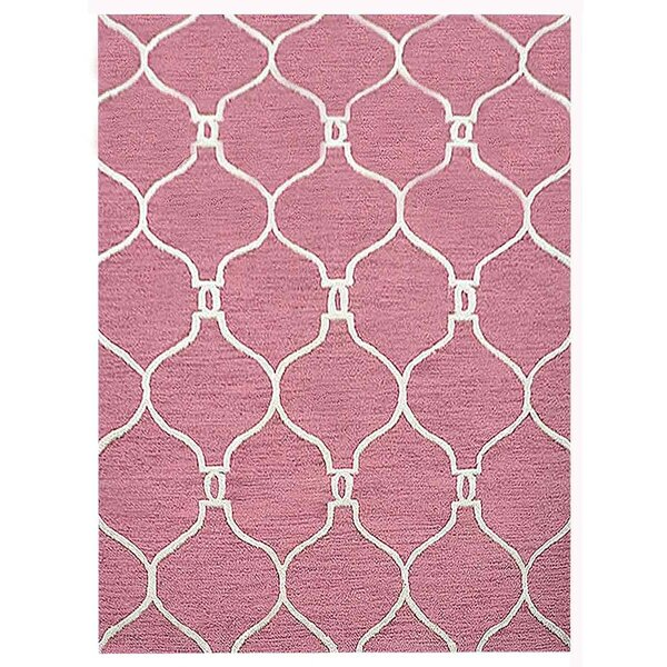 Creamer Geometric Hand-Tufted Wool Light Red/Beige Area Rug by Darby Home Co