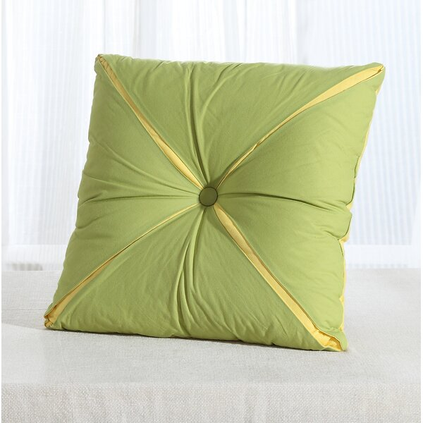 Square Reversible Button Accent Throw Pillow by Fiesta
