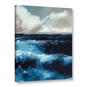 Rolling Sea Painting Print on Wrapped Canvas by Breakwater Bay