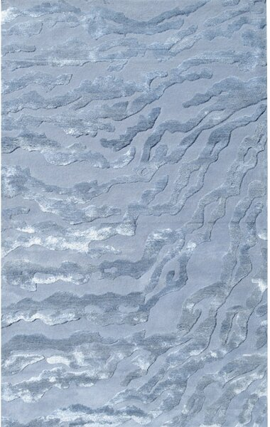 Kristiansand Handmade Arctic Ice Area Rug by Meridian Rugmakers