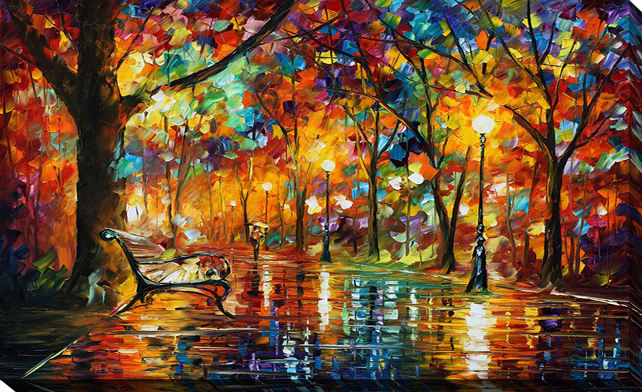 "Desktop Wallpaper Leonid Afremov H758173: PicturePerfectInternational ""Colorful Night"" By Leonid"