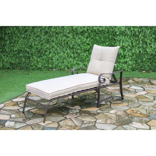 Tony Reclining Chaise Lounge with Cushion (Set of 2) by Ophelia & Co.