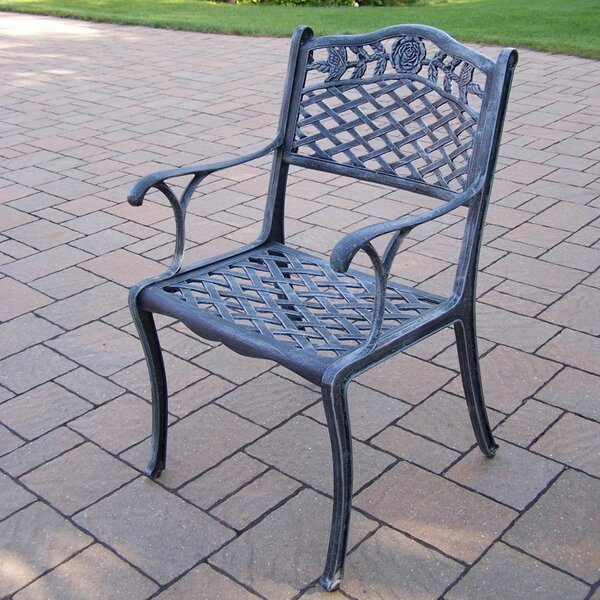 Tea Rose Stacking Patio Dining Chair by Oakland Living