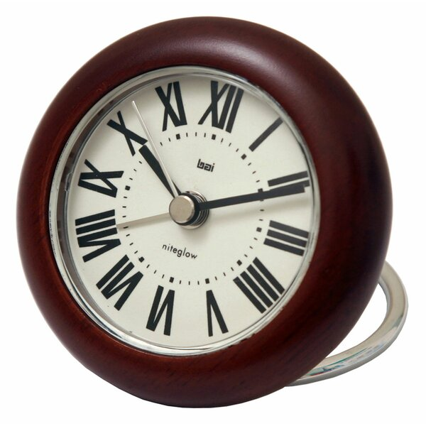 Roma Rondo Wooden Travel Alarm Clock by Bai Design