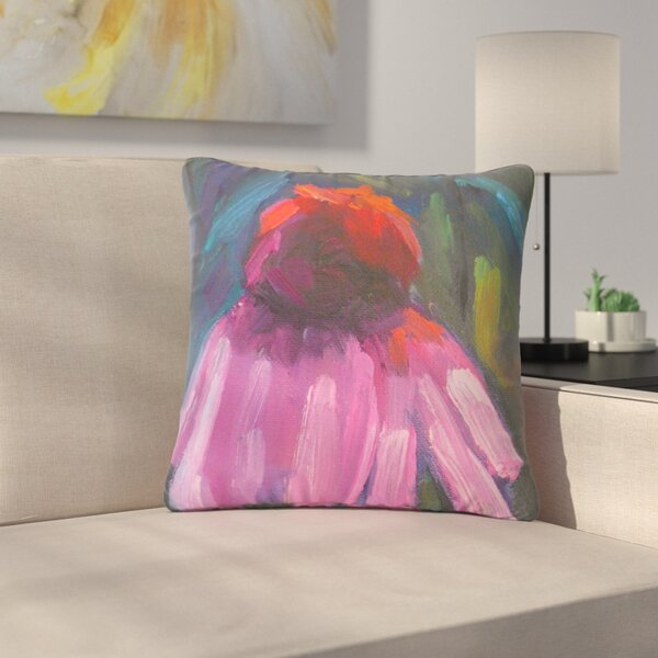 Carol Schiff Shady Coneflower Outdoor Throw Pillow by East Urban Home