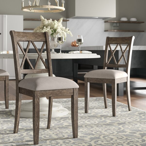 Clearmont Upholstered Dining Chair (Set of 2) by Three Posts
