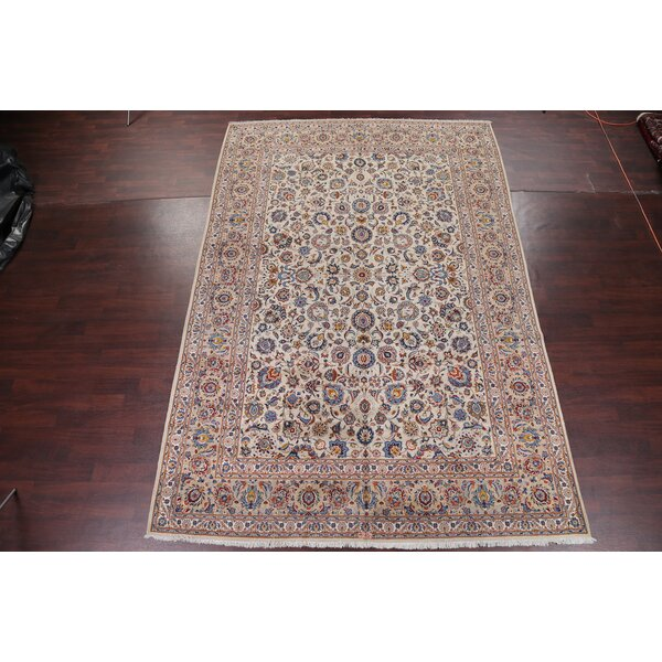One-of-a-Kind Albin Hand-Knotted Beige/Brown 9' x 13'3 Wool Area Rug