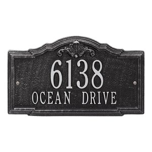 Gatewood Personalized Standard 2-Line Wall Address Plaque