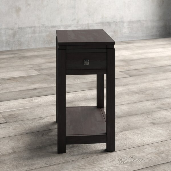 Olsson Narrow Solid Wood End Table With Storage By Gracie Oaks