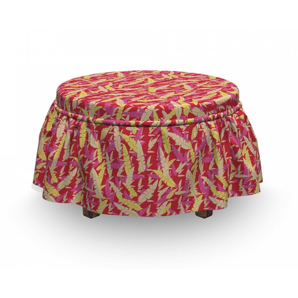 Feathers Ottoman Slipcover (Set Of 2) By East Urban Home