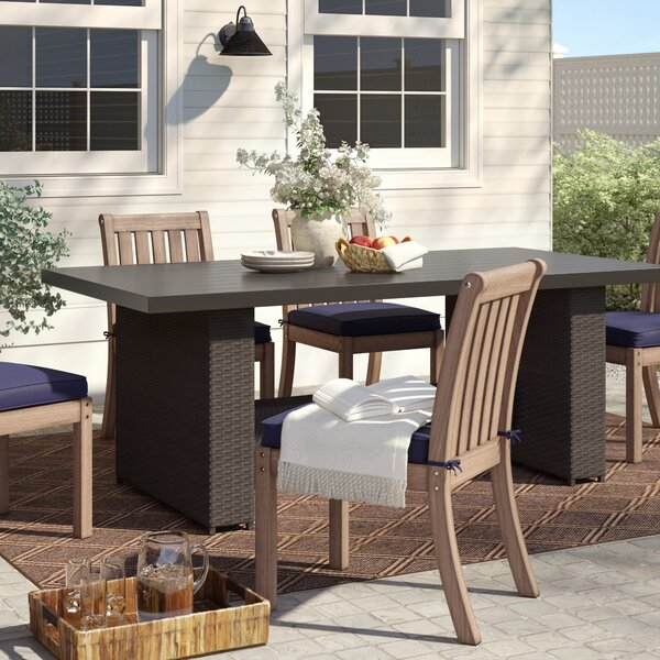 Tegan Wicker Dining Table by Sol 72 Outdoor