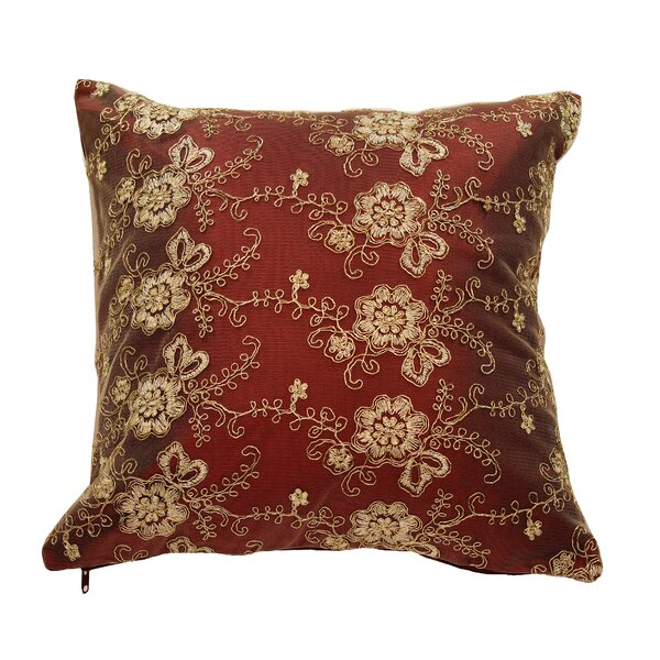 Swiss Vintage Embroidered Throw Pillow by Violet Linen