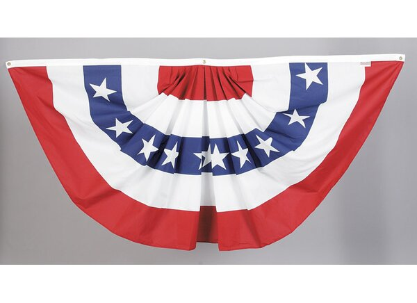American Pleated 2-Sided Polyester Blend 3 x 6 ft. Bunting by Valley Forge Flag