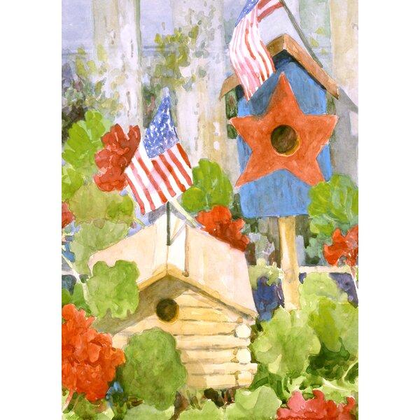 Star-Spangled Birdhouse 2-Sided Garden flag by Toland Home Garden
