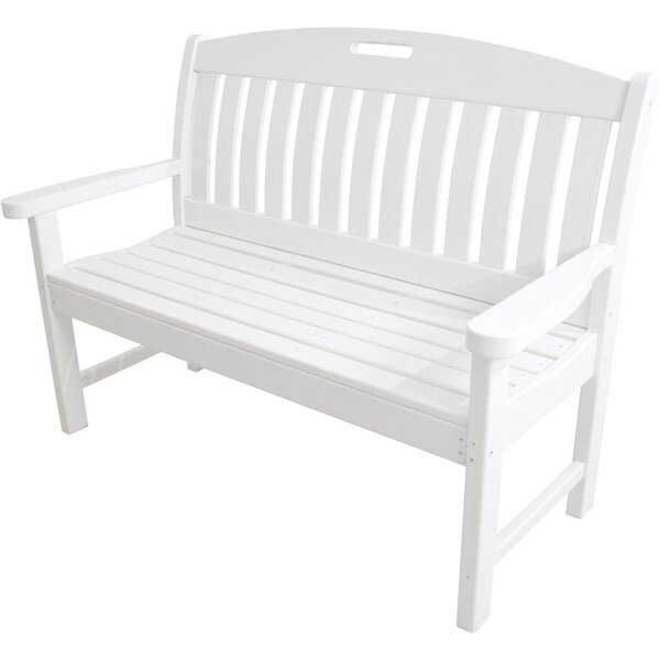 Stines Plastic Garden Bench by August Grove