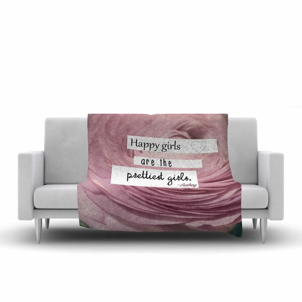 Robin Dickinson Happy Girls Fleece Throw by East Urban Home