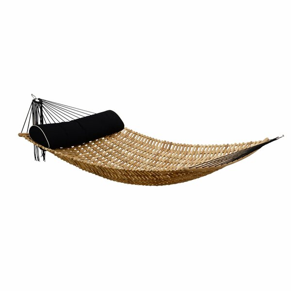 Sandy Natural Teak Double Hammock by Bay Isle Home