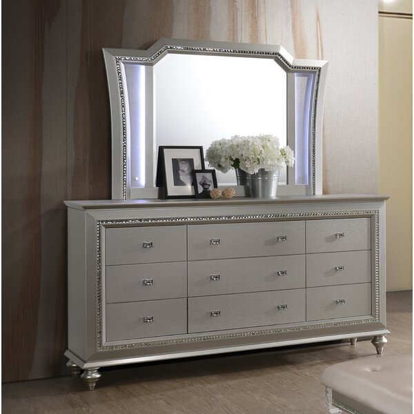 Lerch 9 Drawer Dresser with Mirror by Mercer41