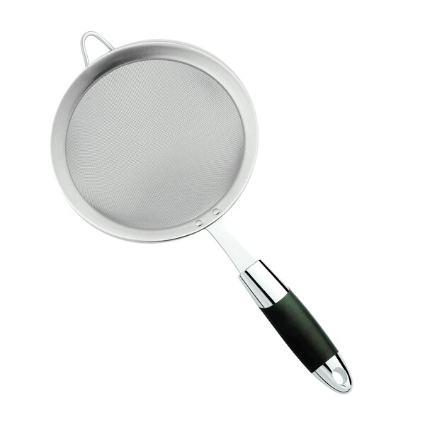Stainless Steel Strainer With Soft Touch Handle By Cuisinox.