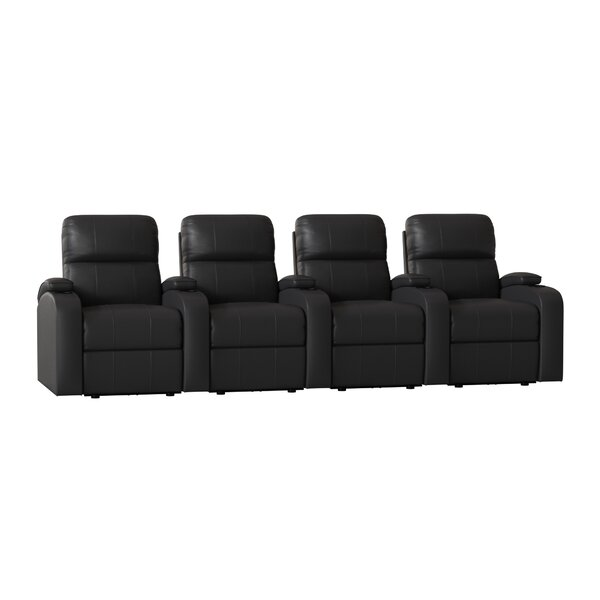 Leather Home Row Seating (Row Of 4) By Winston Porter