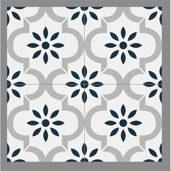 Gallery 8 x 8 Ceramic Field Tile in Castillo Blue/Gray by Mulia Tile