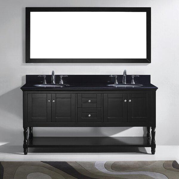 Cicely 73 Double Bathroom Vanity Set with Mirror