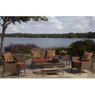 Key Biscayne 5 Piece Sofa Seating Group with Cushions By Panama Jack Outdoor