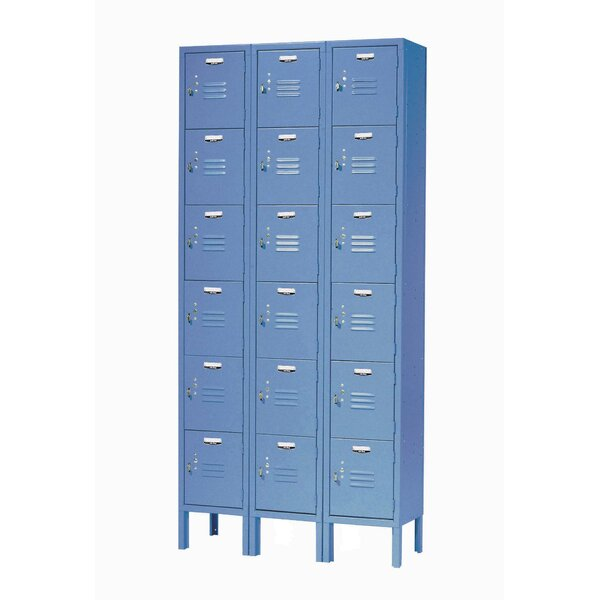 6 Tier 3 Wide Employee Locker by Nexel