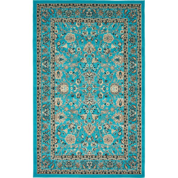 Southern Turquoise Area Rug by World Menagerie