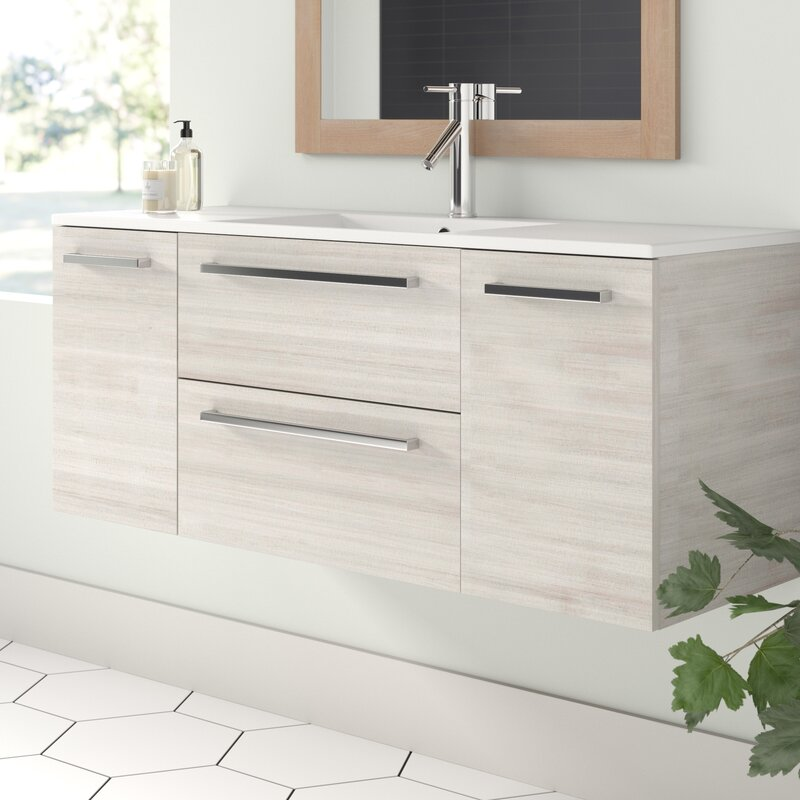Wall Mounted Single Bathroom Vanity Set