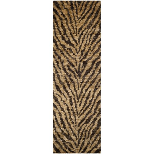 Parisi Natural/Black Area Rug by World Menagerie