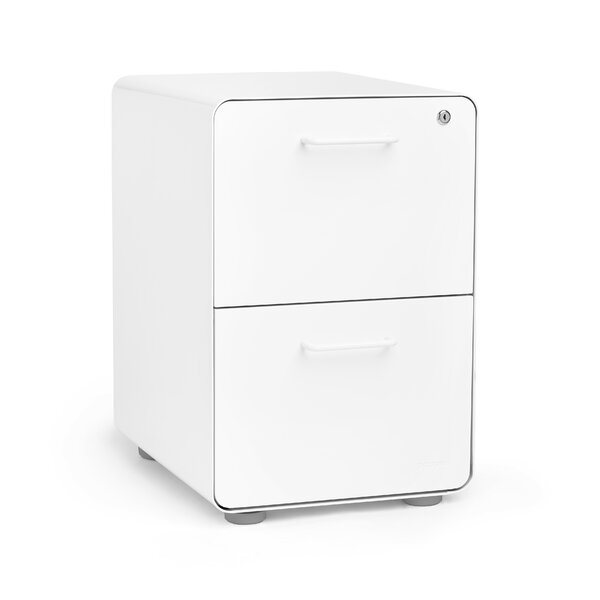 Stow 2 Drawer Vertical Filing Cabinet by Poppin