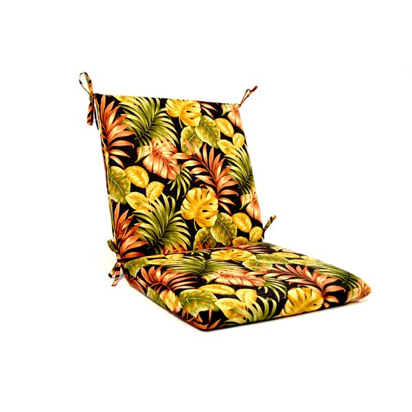 Tropical Floral Iron High Back Indoor/Outdoor Lounge Chair Cushion by Wildon Home ®