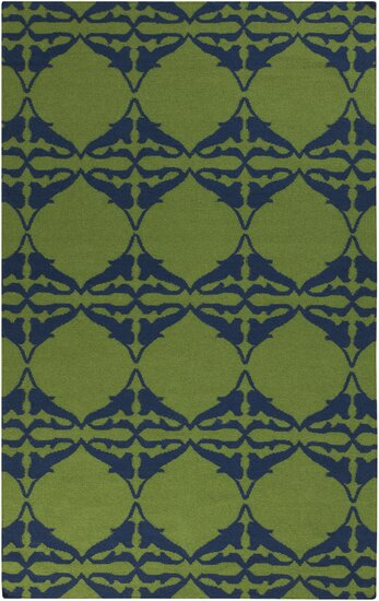 Donley Peridot Geometric Area Rug by Wrought Studio