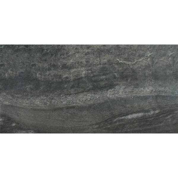 Enrichment 6 x 36 Porcelain Field Tile in Charcoal by Parvatile