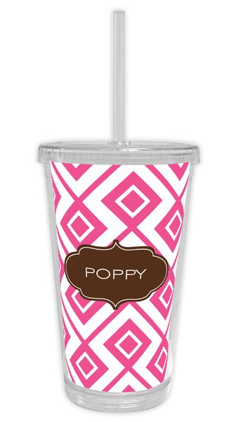 Lucy Block Personalized Beverage 16 oz. Plastic Travel Tumbler by Dabney Lee