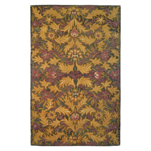 Wool Floral Hand-Tufted Brown/Gold Area Rug by Eastern Weavers