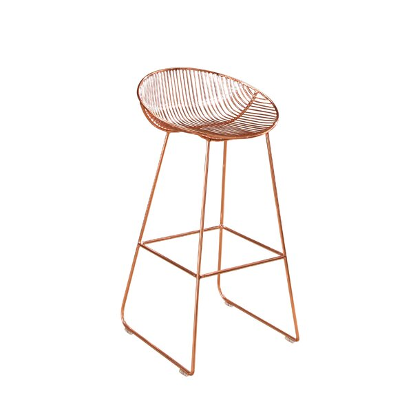 Eustaquio 29.5 Iron Bar Stool by Willa Arlo Interiors