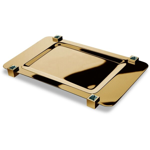 Lanz Square with Swarovski Crystals Bathroom Accessory Tray by Everly Quinn