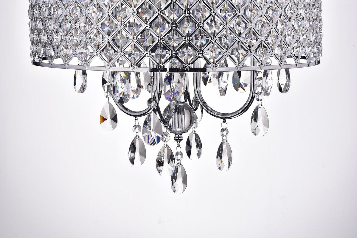 House of hampton clemence 4 light crystal chandelier reviews wayfair clemence 4 light crystal chandelier arubaitofo Image collections