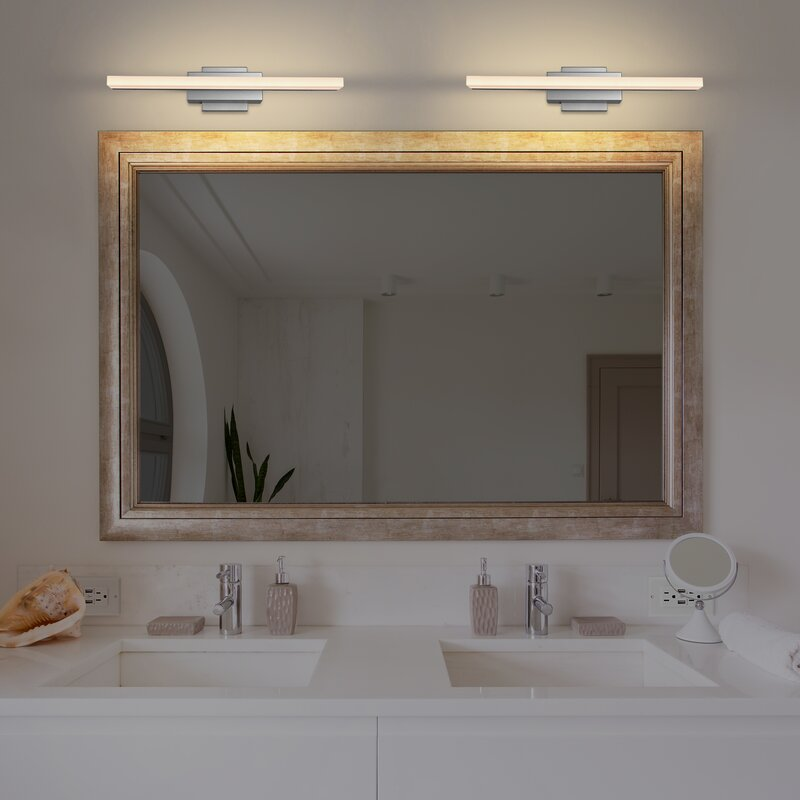 Wade Logan Armendariz 1 Light Dimmable Led Silver Bath Bar Reviews Wayfair