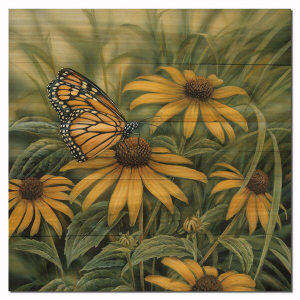 Monarch Butterfly Painting Print Plaque by WGI-GALLERY