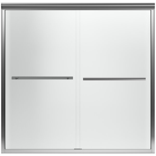 Gradient 59.63 W x 58.06 H Double Sliding Bath Door with CleanCoat® Technology by Kohler