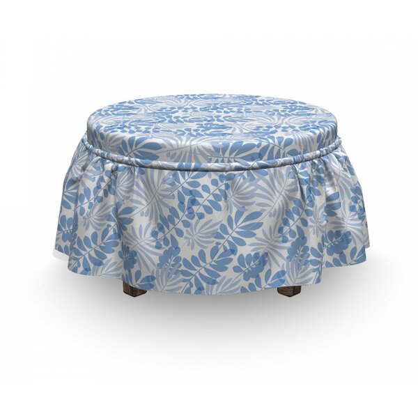 Hawaii Leaves Ottoman Slipcover (Set Of 2) By East Urban Home
