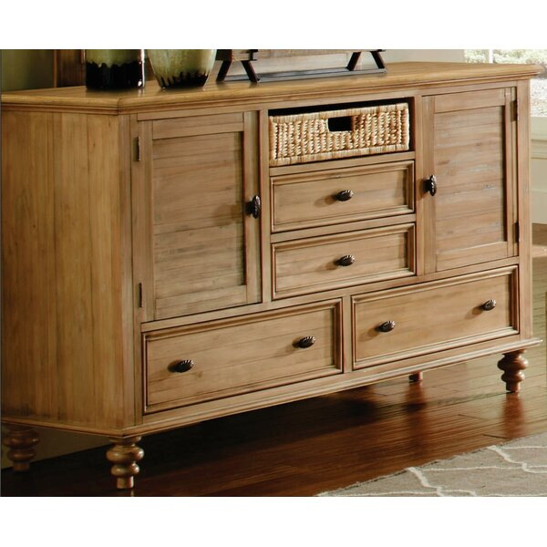 Free S&H Fifield 4 Drawers Combo Dresser
