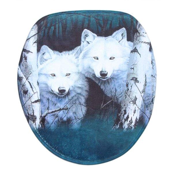 Aldrich Wolf Multiple Velour Non-Slip 3 piece Bath Rug Set