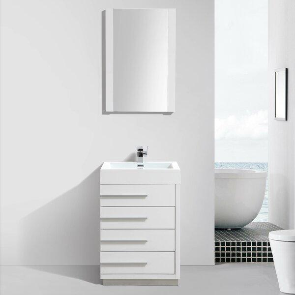 Manders 24 Single Bathroom Vanity Set with Mirror