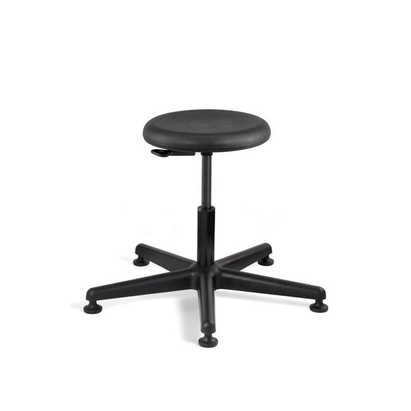 Versa Height Adjustable Backless Stool with Mushroom Glides by BEVCO
